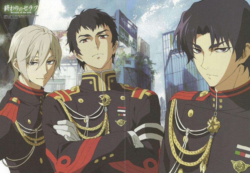 Yamato Yamamoto Mangaka Ikuo Kuwana Mangaka Production I G Studio Owari no Seraph Series Guren Ichinose Character uniform wallpaper