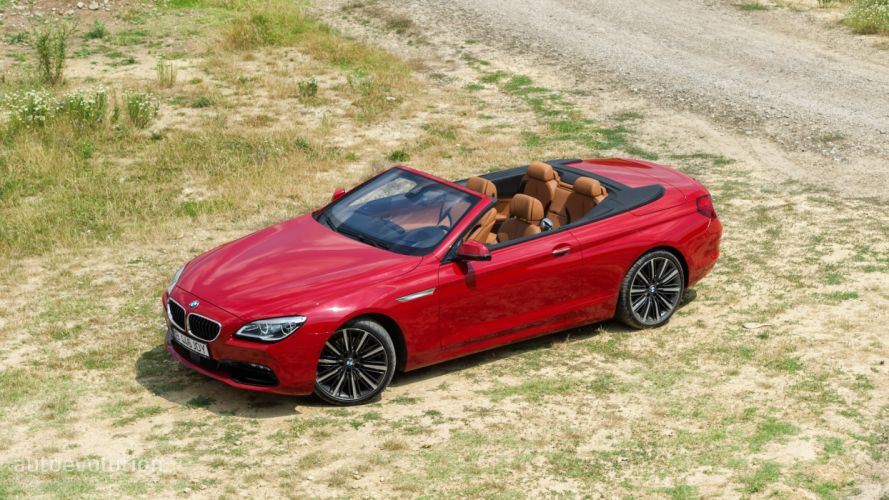 2016 BMW 640d xDrive Convertible cars red wallpaper