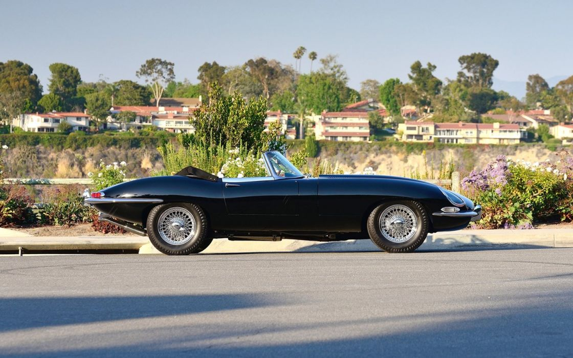 cars classic1967 Jaguar E-Type Series 1 Roadster Triple Black wallpaper