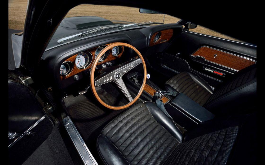 1969 cars fastback Ford Mustang Boss 429 Black Jade wallpaper