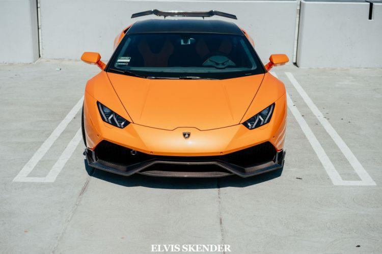 Orange Lamborghini Huracan cars wallpaper
