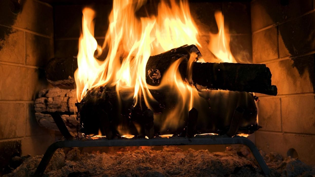chimenea fuego ley wallpaper