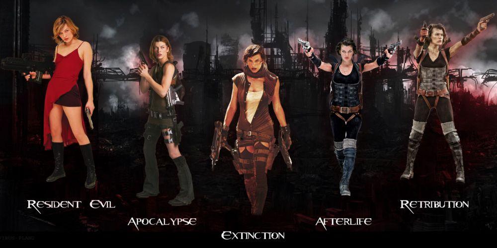 RESIDENT EVIL dark horror game movie film fantasy sci-fi science fiction biohazard survival action fighting shooter tps video zombie wallpaper
