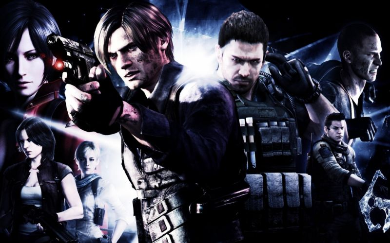 RESIDENT EVIL dark horror game movie film fantasy sci-fi science fiction biohazard survival action fighting shooter tps video zombie wallpaper