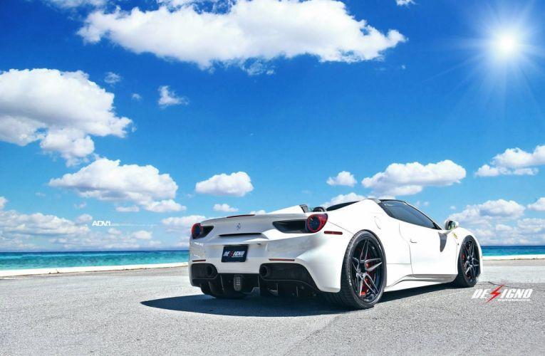 white Ferrari 488 spider cars 2016 wallpaper
