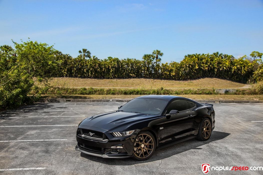 ford mustang 2016 black cars Vossen Wheels  wallpaper