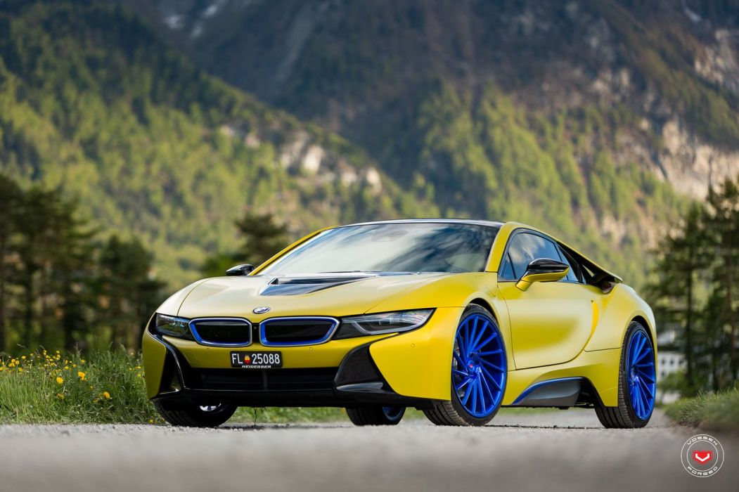 bmw i8 electric cars Vossen Wheels  wallpaper