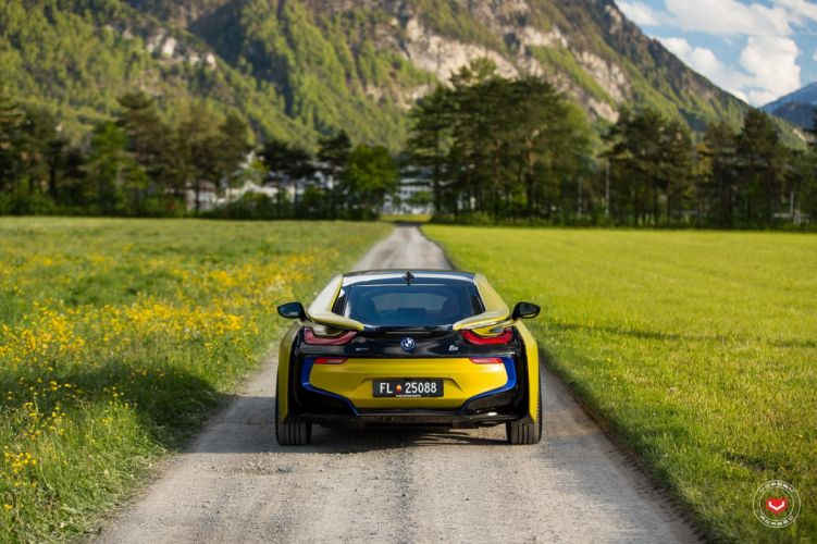 bmw i8 electric cars Vossen Wheels wallpaper