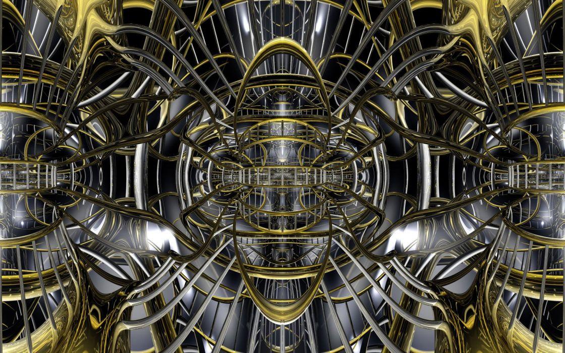 Abstracto 3D maquina wallpaper