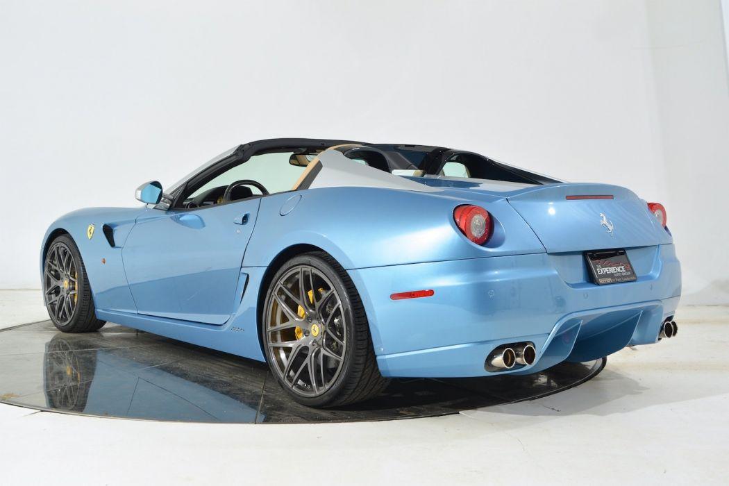 2011 FERRARI 599 SA APERTA cars blue wallpaper