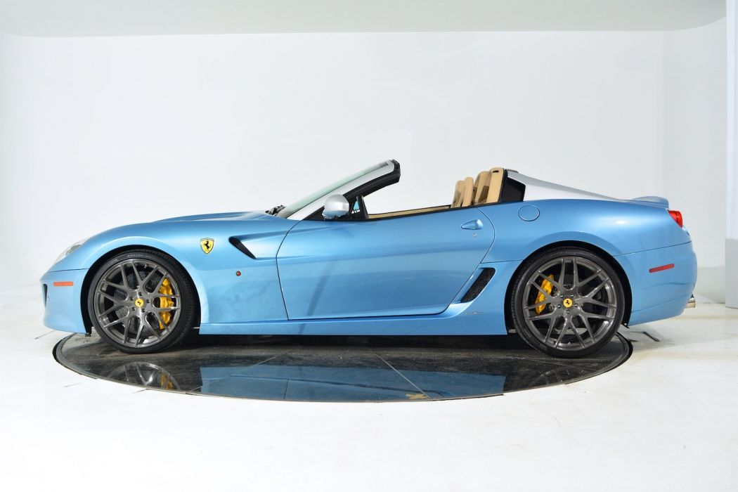 2011 FERRARI 599 SA APERTA cars blue wallpaper