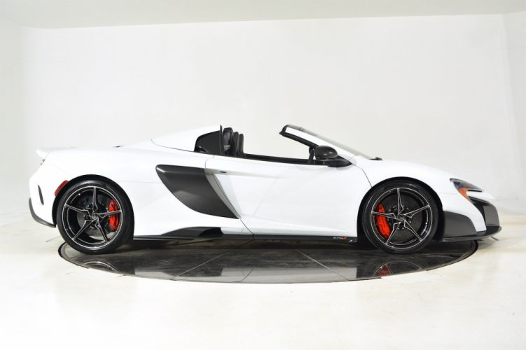 2016 MCLAREN 675LT SPIDER cars white wallpaper