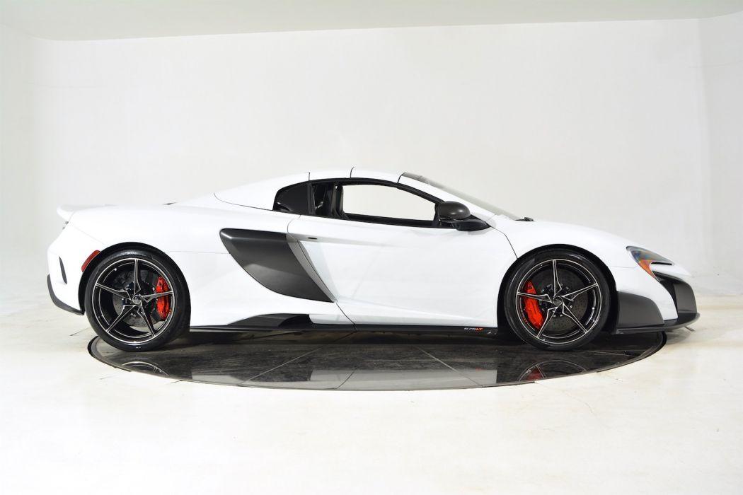 2016 MCLAREN 675LT SPIDER cars white wallpaper