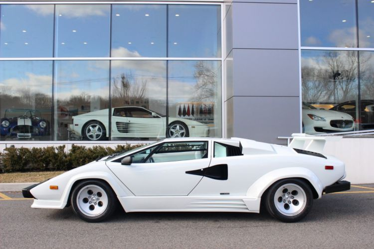 1988 LAMBORGHINI COUNTACH cars white wallpaper