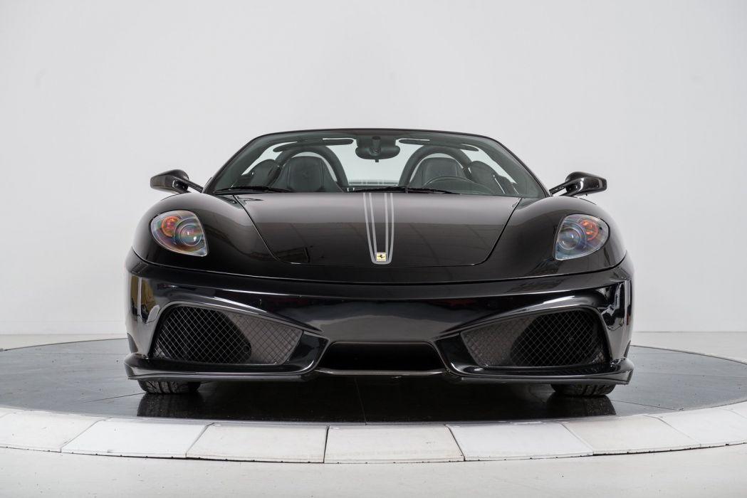 2009 Ferrari F430 Scuderia Spider 16m Cars Black Wallpaper