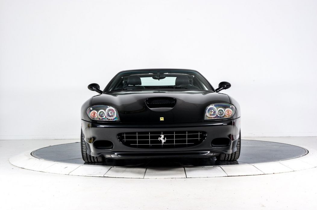 2005 FERRARI 575 SUPERAMERICA cars black wallpaper