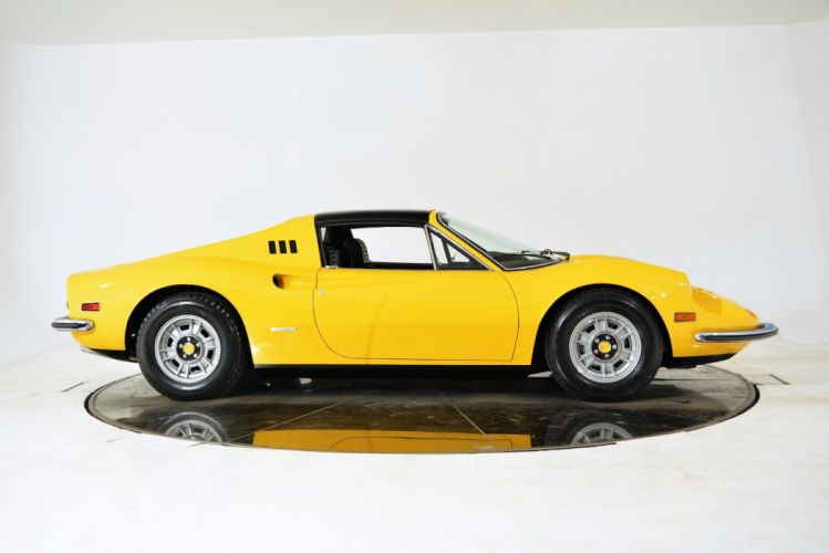 1973 FERRARI DINO 246 GTS cars classic yellow wallpaper