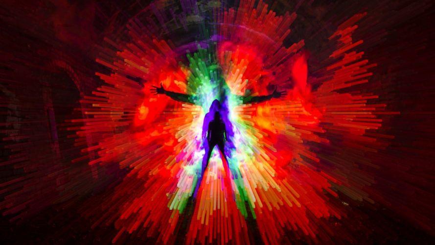 persona color abstracto 3 d wallpaper