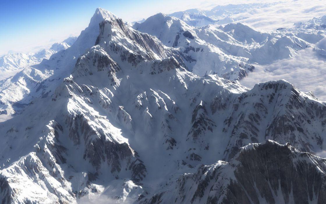 snow mountain ridge mountains artvid vertices wallpaper
