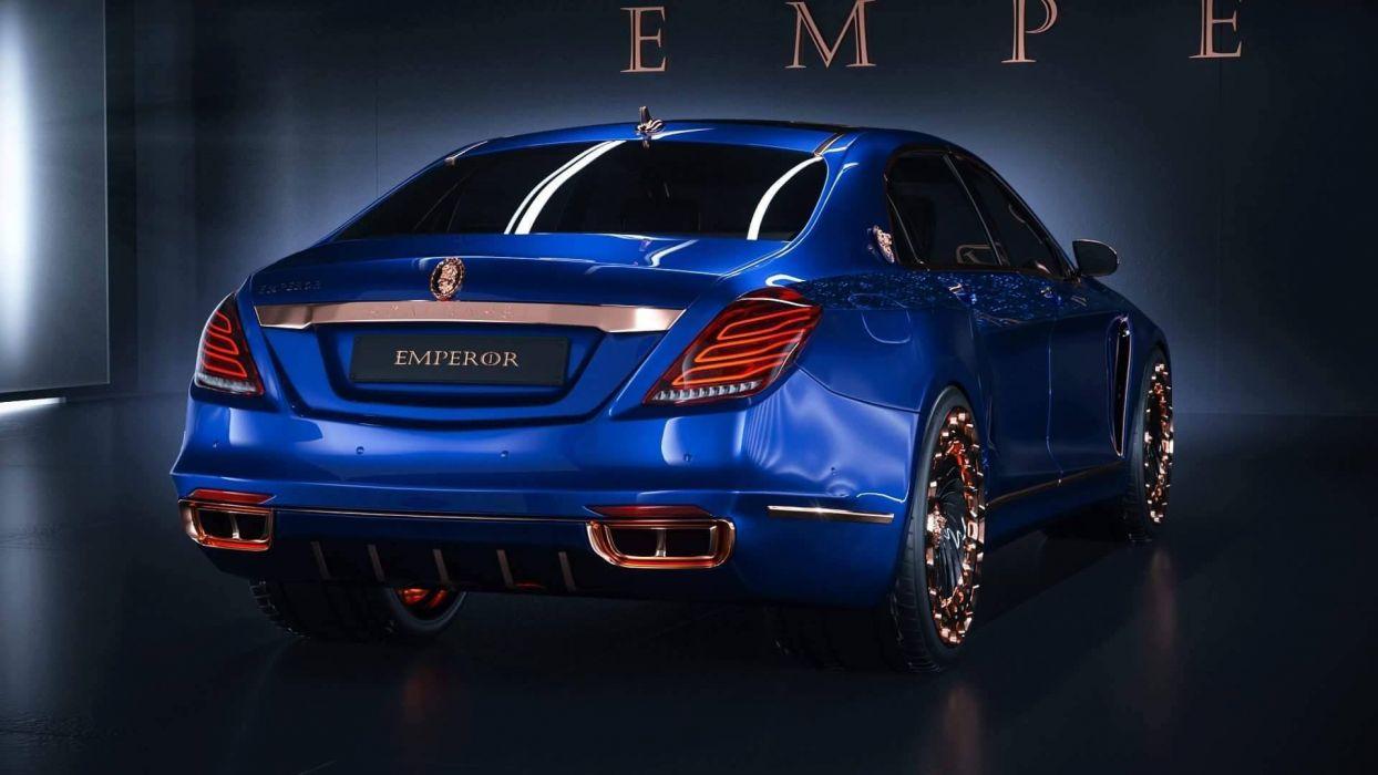 2016 Scaldarsi Emperor mercedes s600 blue cars modified wallpaper