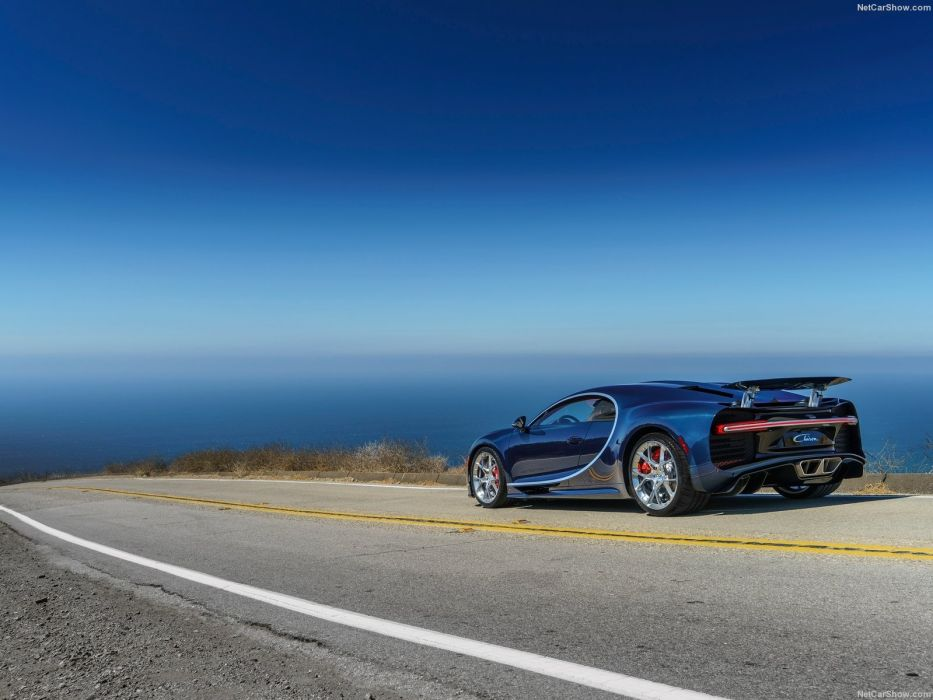Cars Bugatti Chiron blue supercars 2016 wallpaper