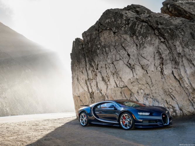 Cars Bugatti Chiron blue supercars 2016 wallpaper