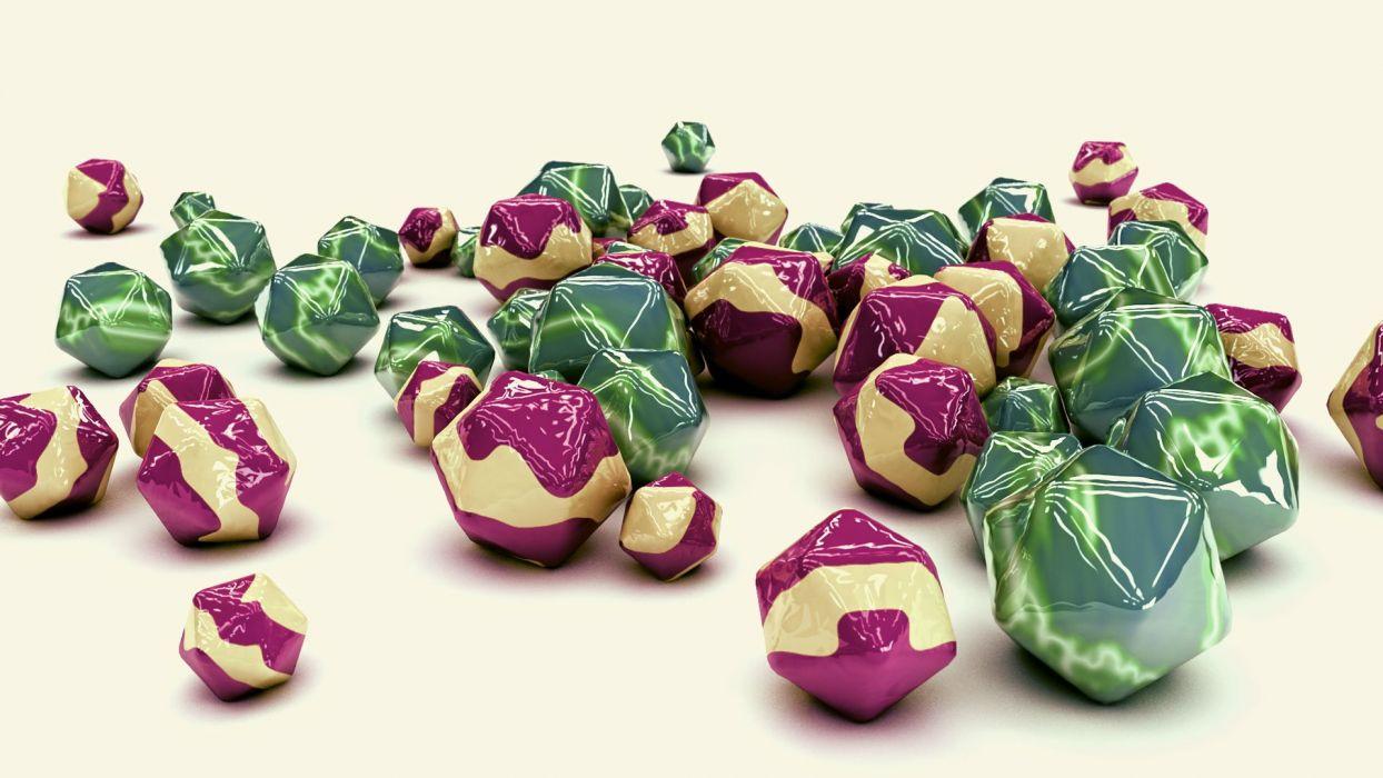 abstracto 3d bolas colores wallpaper