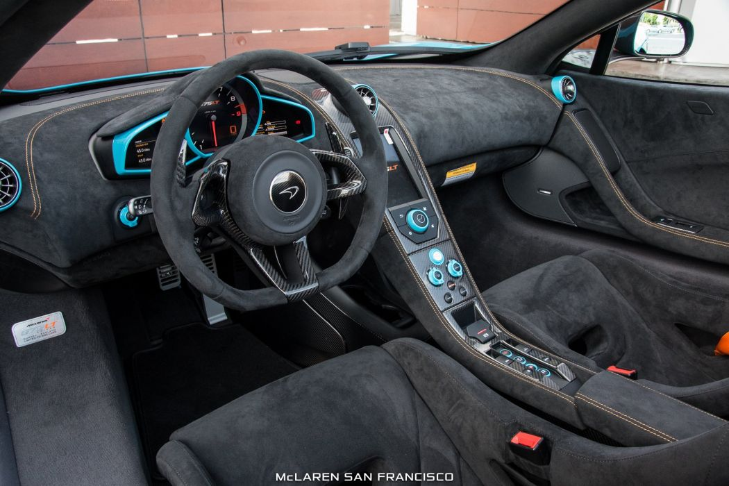 McLaren Fistral Blue 675LT Spider cars 2016 wallpaper