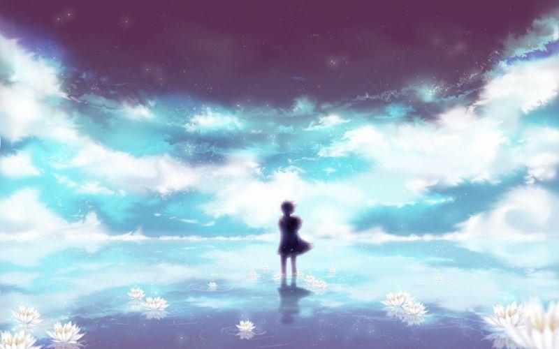 art clouds Durarara ! guy anime flower sky wallpaper