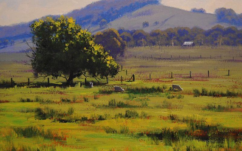 hunter valley landscape artsaus art tree drawing wallpaper