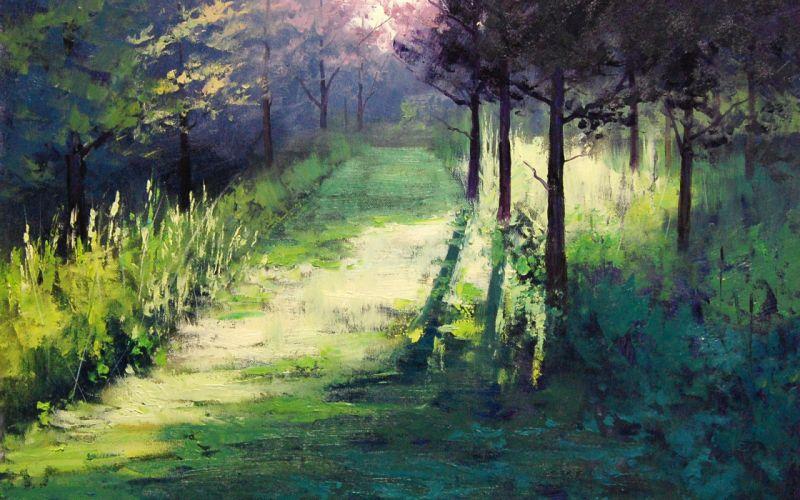 rt painting landscape morning light artsaus wallpaper