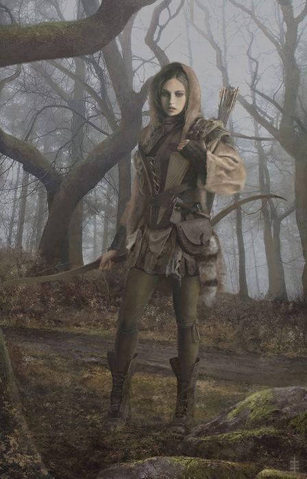 fantasy girl forest sword wallpaper