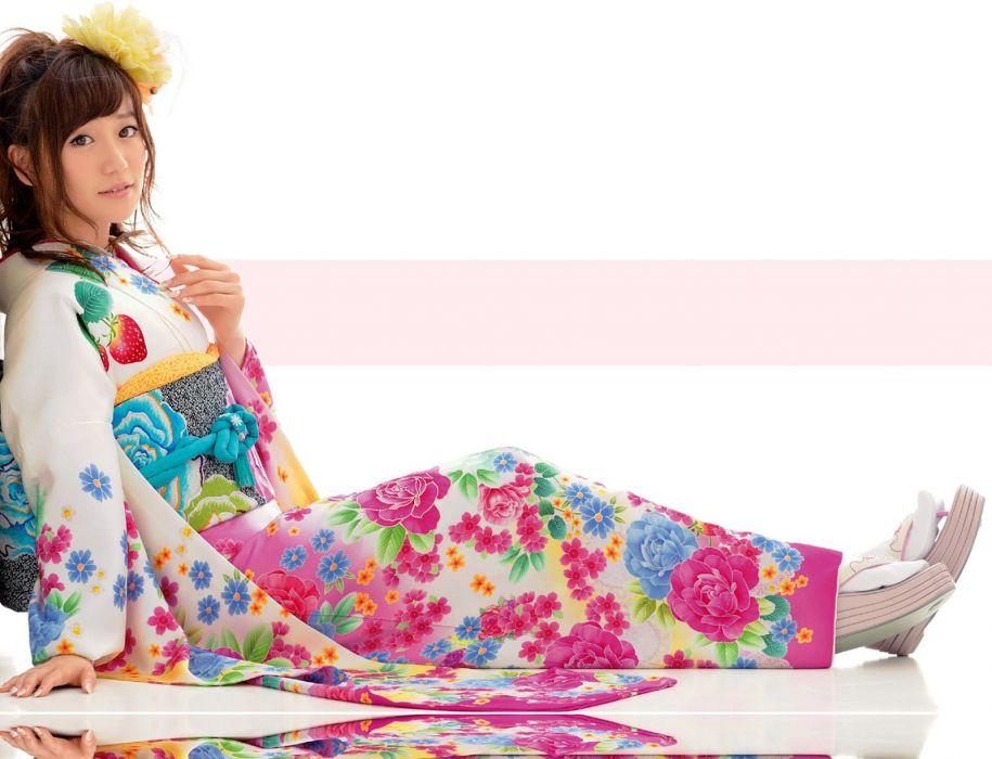 AKB48-Member-Kimono-Dress wallpaper