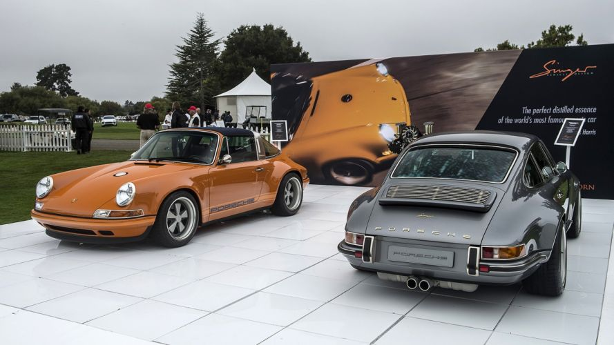 911 cars luxemburg orange porsche singer targa wallpaper