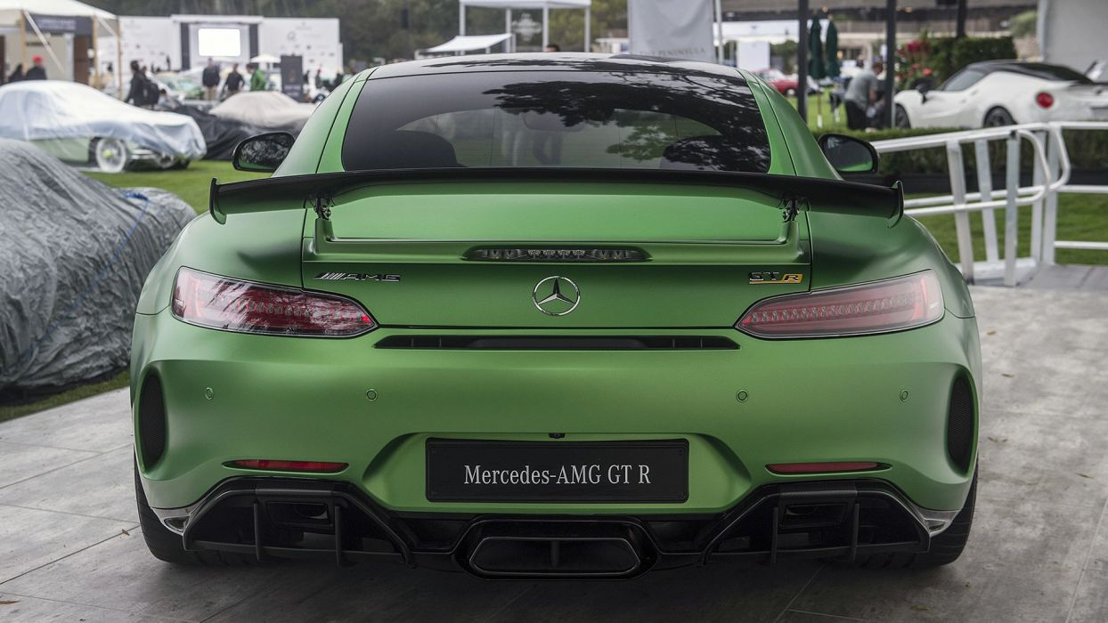 Mercedes AMG GTR cars coupe green wallpaper