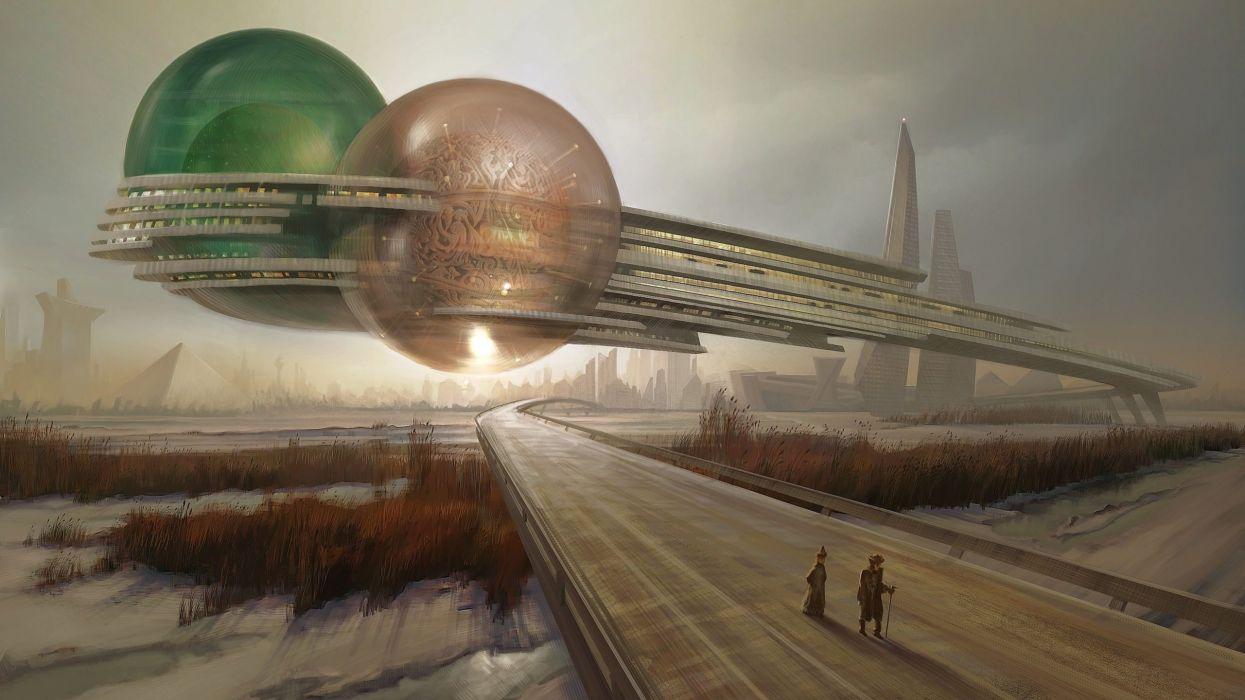 Fantasia abstracto planeta alienigena wallpaper