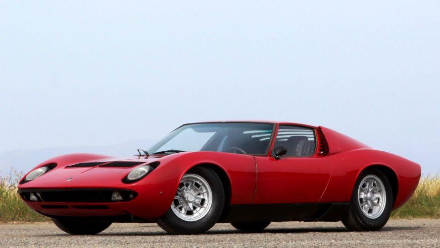 1968 LAMBORGHINI MIURA P400 cars classic red wallpaper