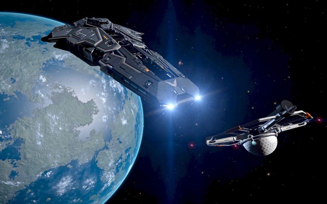 ELITE DANGEROUS action adventure artwork futuristic mmo online rpg sci-fi simulator space spaceship science fiction game video shooter technics wallpaper