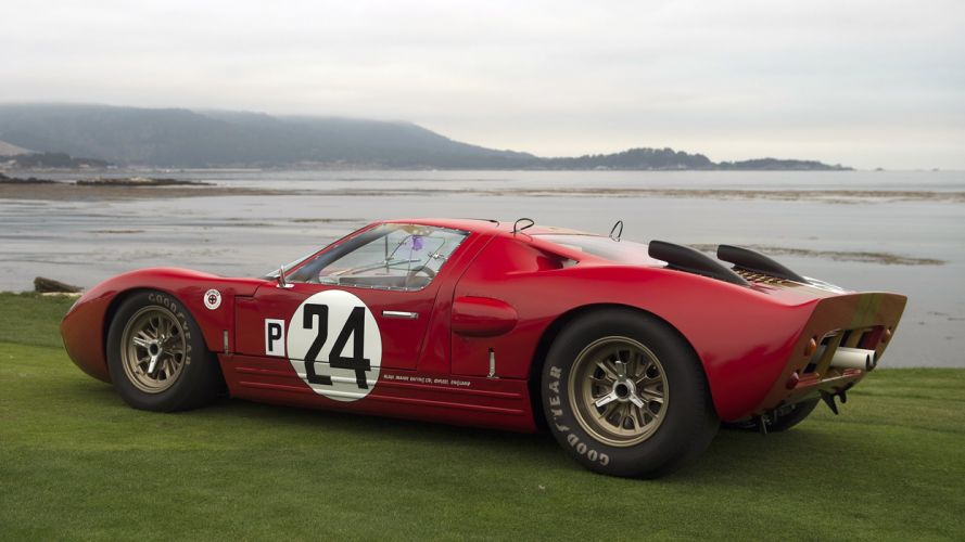 Ford GT GT40 cars racecars classic Pebble Beach 2016 wallpaper