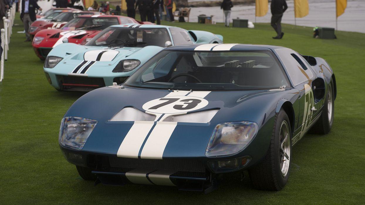 Ford GT GT40 cars racecars classic Pebble Beach 2016 wallpaper