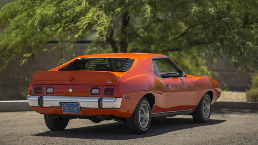 1973 AMC JAVELIN AMX cars coupe orange wallpaper