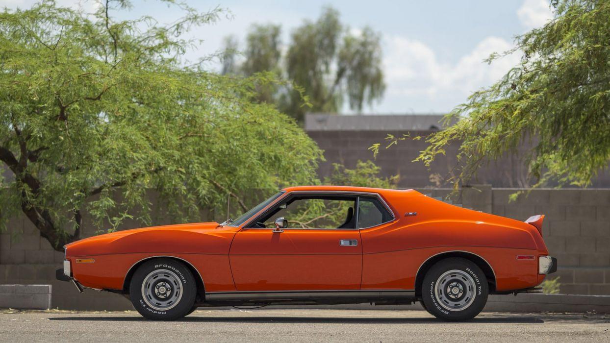 1973 AMC JAVELIN AMX cars coupe orange wallpaper