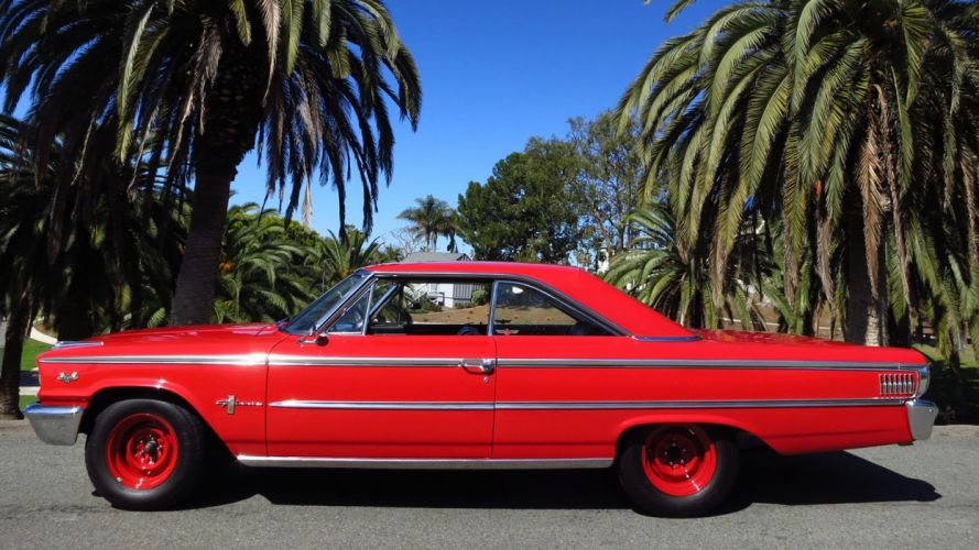 1963 FORD GALAXIE 500 cars classic red wallpaper