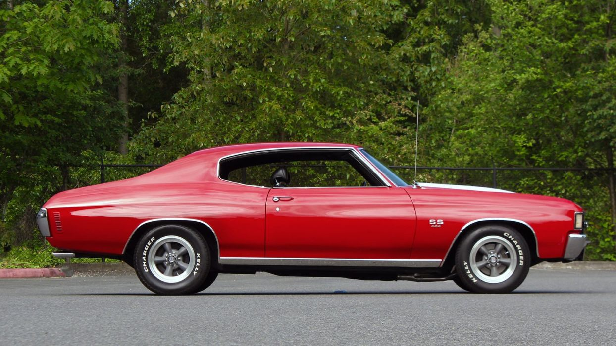 1972 CHEVROLET CHEVELLE SS cars coupe red wallpaper