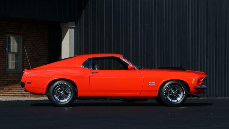 1970 FORD MUSTANG BOSS 429 FASTBACK cars orange wallpaper