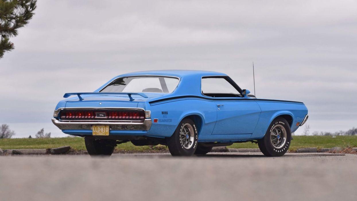 1970 MERCURY COUGAR BOSS 302 ELIMINATOR cars blue wallpaper