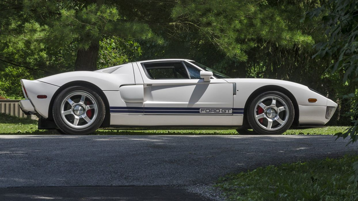 2005 FORD GT cars white wallpaper