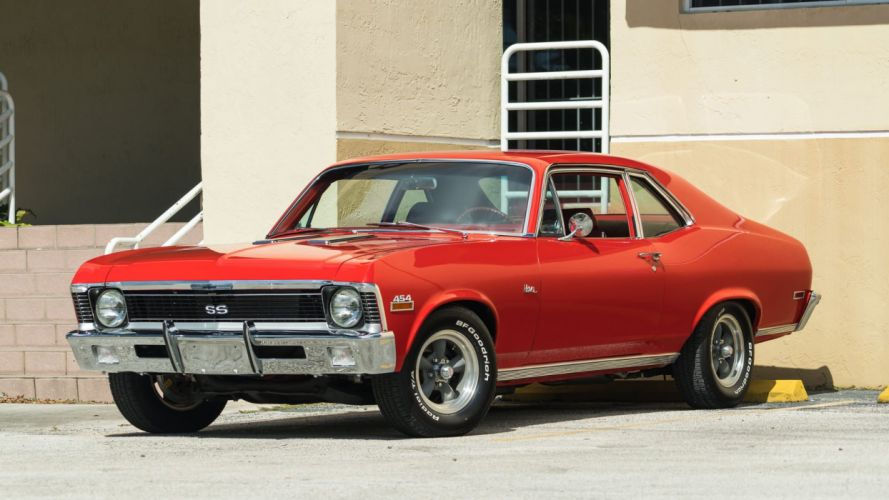 1970 CHEVROLET NOVA 454 coupe cars red wallpaper
