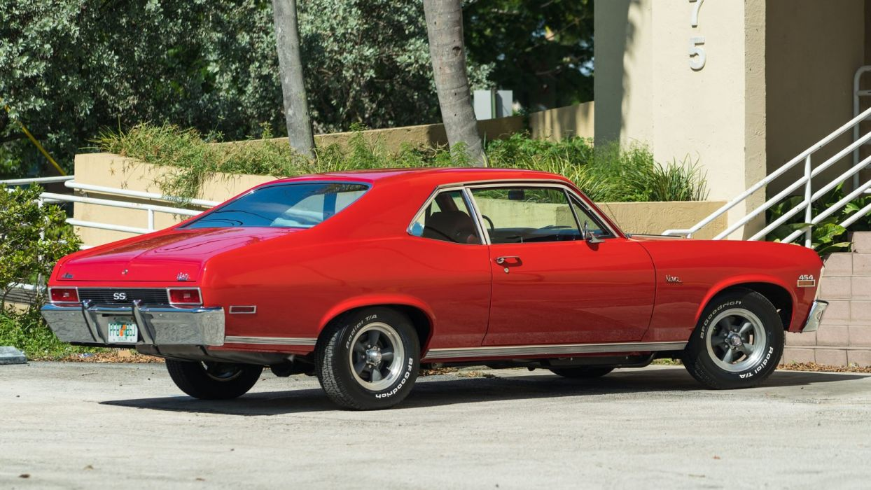 1970 CHEVROLET NOVA 454 coupe cars red wallpaper