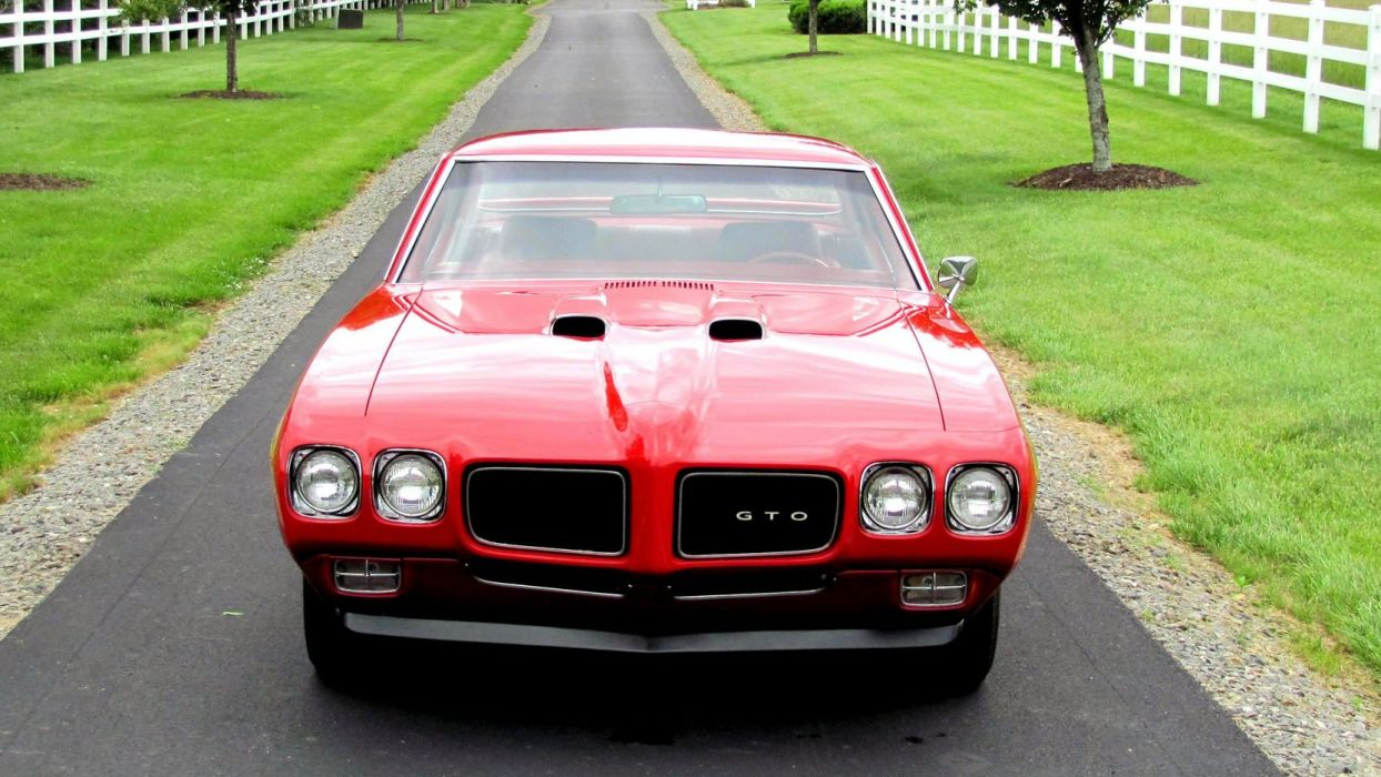 1970 PONTIAC GTO JUDGE coupe cars red wallpaper